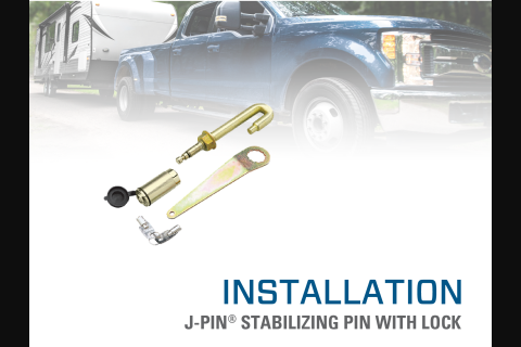 Product Install & Proper Use: Draw•Tite® J-Pin® Stabilizing Pin with Lock
