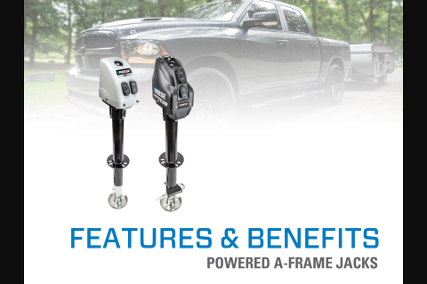 Features & Benefits: Reese® Powered A-Frame Jacks